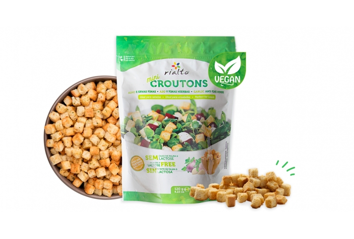 Mini Croutons Garlic & Fine herbs VEGAN - 120g